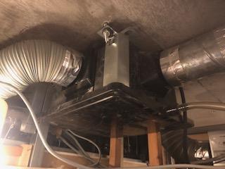 マンションの中間換気扇の交換